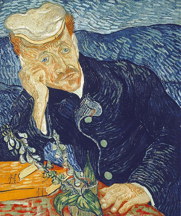Portrait Of Dr Gachet Print by Vincent Van Gogh