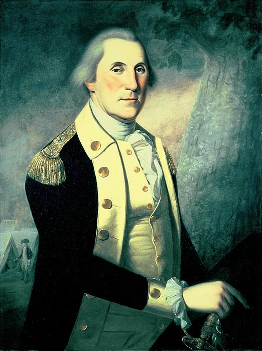 Portrait Of George Washington Print by James the Elder Peale