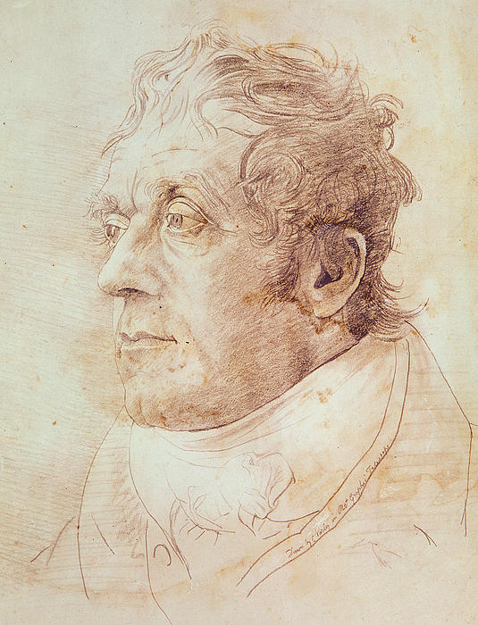 Portrait Of Jmw Turner Print by Cornelius Varley