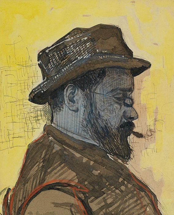 Portrait Of Maximilien Luce Print by Paul Signac
