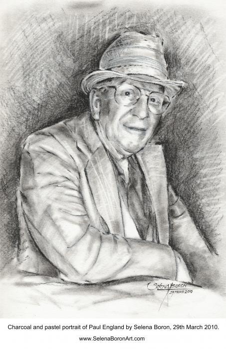 Portrait Of Paul England Print by Selena Boron