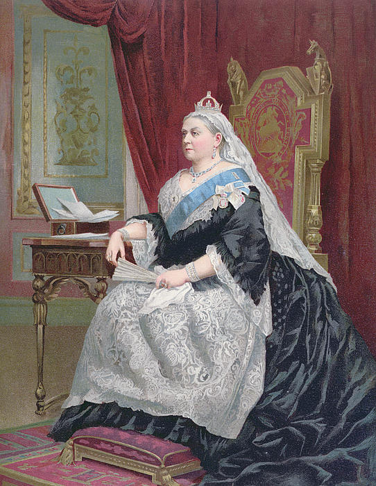 Portrait Of Queen Victoria Print by English School