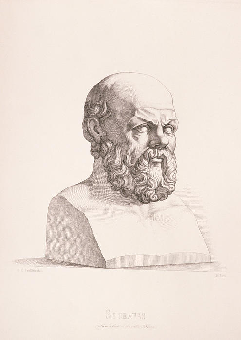 Portrait Of Socrates Print by CC Perkins