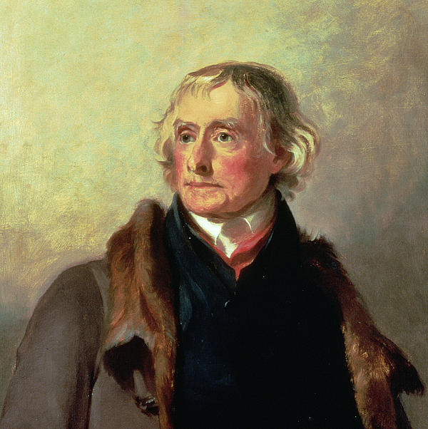 Portrait Of Thomas Jefferson Print by Thomas Sully