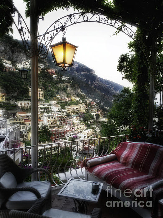 Positano Evening Print by George Oze