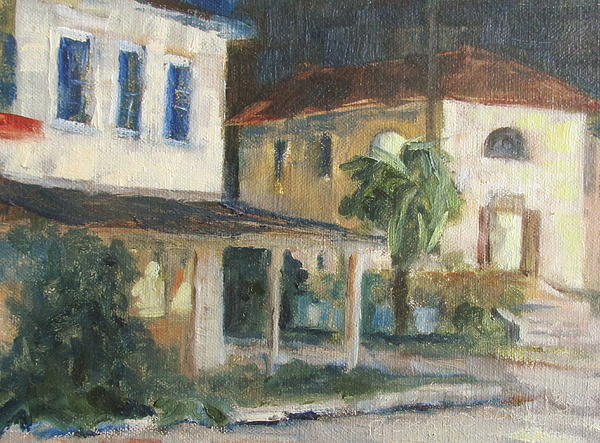 Post Office Apalachicola Print by Susan Richardson
