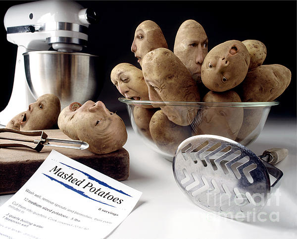 Potato Panic Print by Dick Smolinski