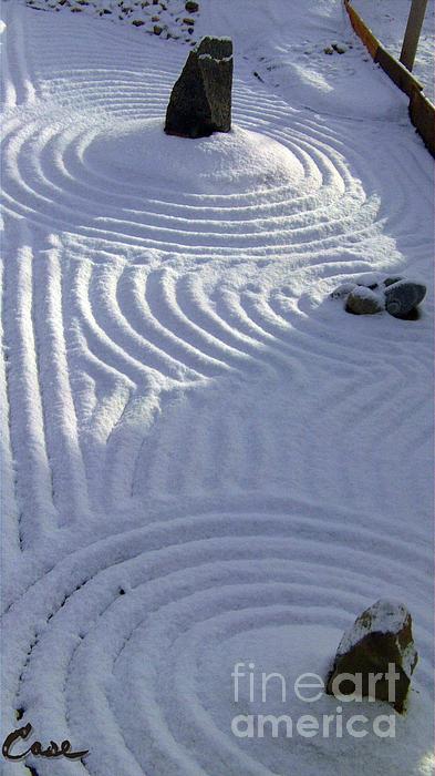 Powder In Zen Two Print by Feile Case