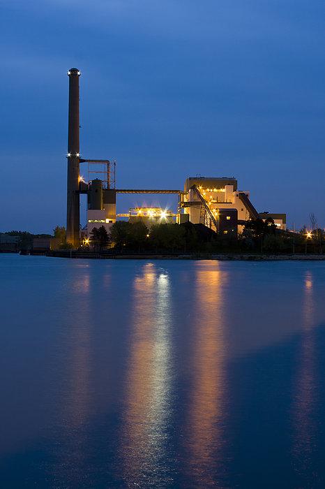 Power Plant Print by Adam Romanowicz