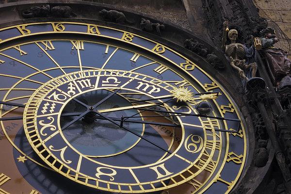 Prague Orloj Print by Adam Romanowicz