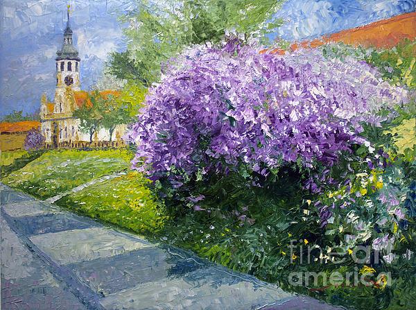 Prague Spring Loreta Lilacs Print by Yuriy Shevchuk