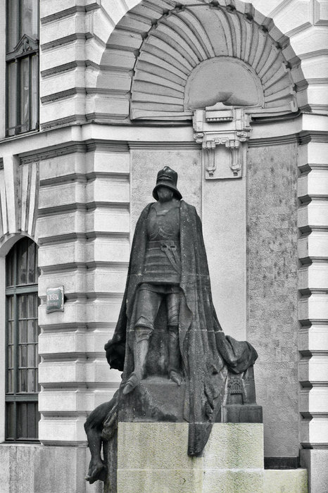 Prague - The Iron Man From A Long Time Ago And A Country Far Far Away Print by Christine Till