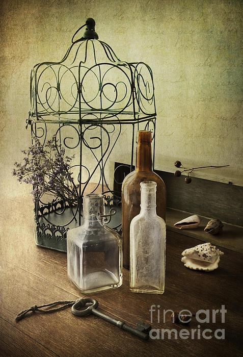 Prairie Home Treasures Print by Elena Nosyreva