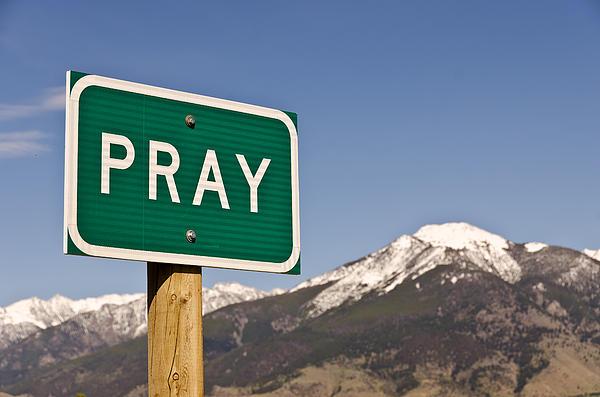 Pray Print by Sue Smith
