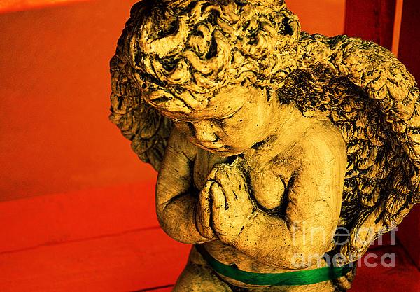 Praying Angel Print by Susanne Van Hulst