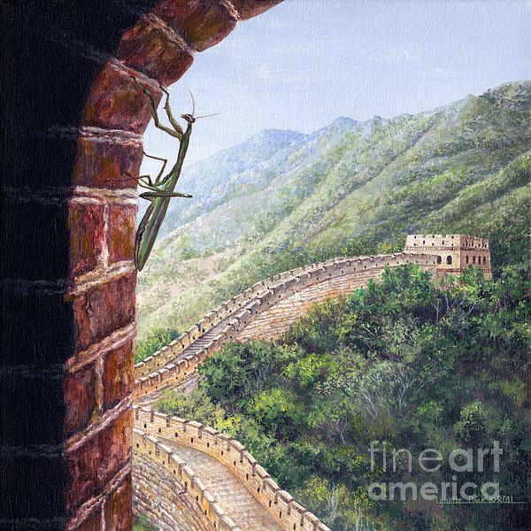 Praying Mantis Print by Lynette Cook