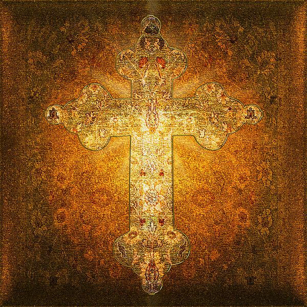 Precious Holy Cross Print by Li   van Saathoff