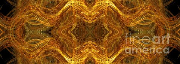 Precious Metal 3 Ocean Waves Dark Gold Print by Andee Design