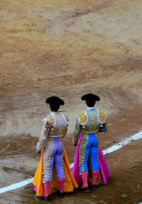 Presence Of The Bullfighters Print by Laura Jimenez