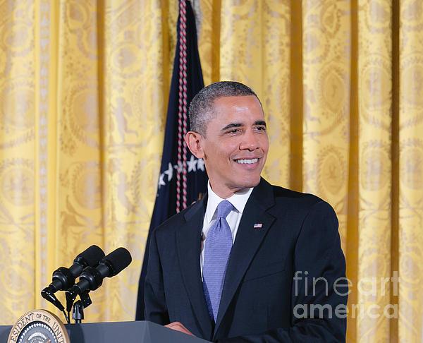 President Barack Obama Print by Ava Reaves