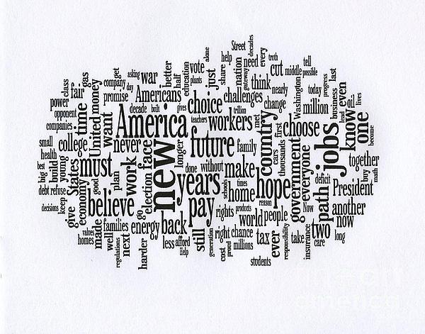 President Obama Acceptance Speech - 2012 Print by David Bearden