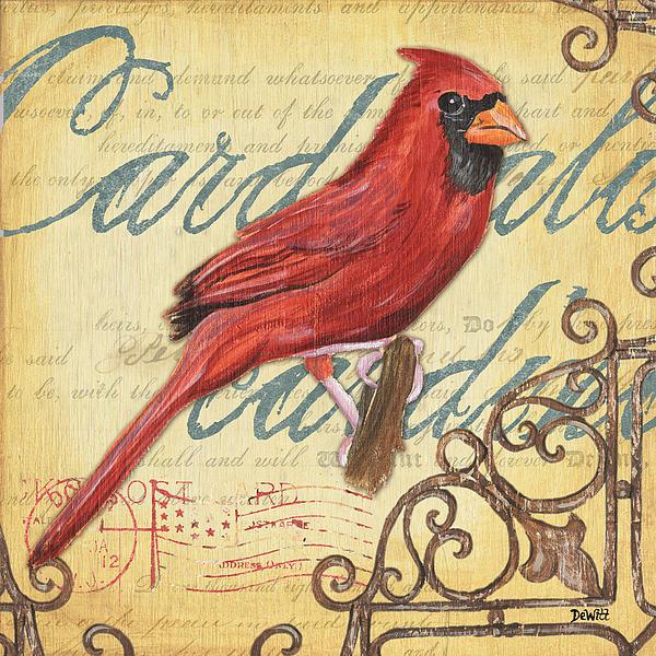 Pretty Bird 1 Print by Debbie DeWitt