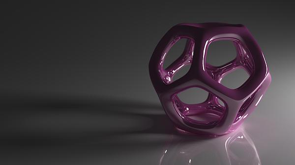 Pretty In Purple Print by Troy Harris