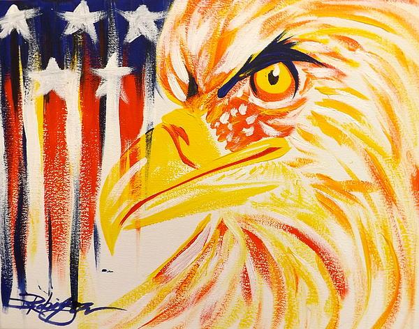 Primary Eagle Print by Darren Robinson