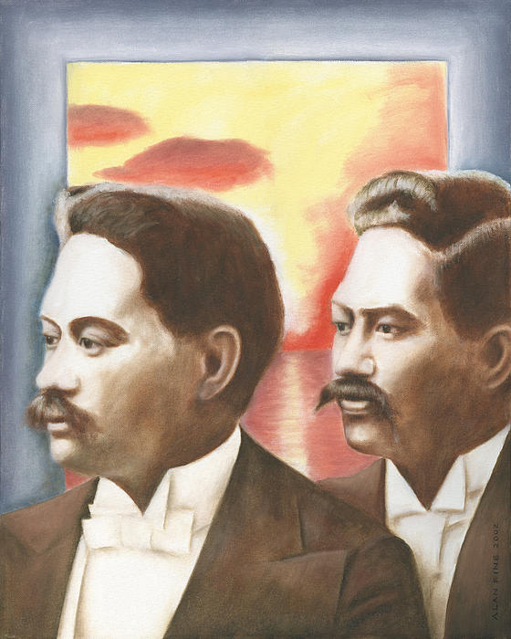 Prince Jonah And David Kuhio Print by Alan Fine