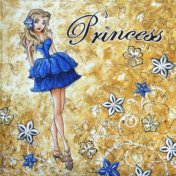 Princess By Madart Print by Megan Duncanson