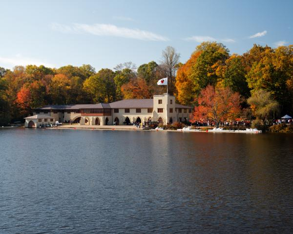 Princeton Crew Boathouse Princeton New Jersey Print by George Oze