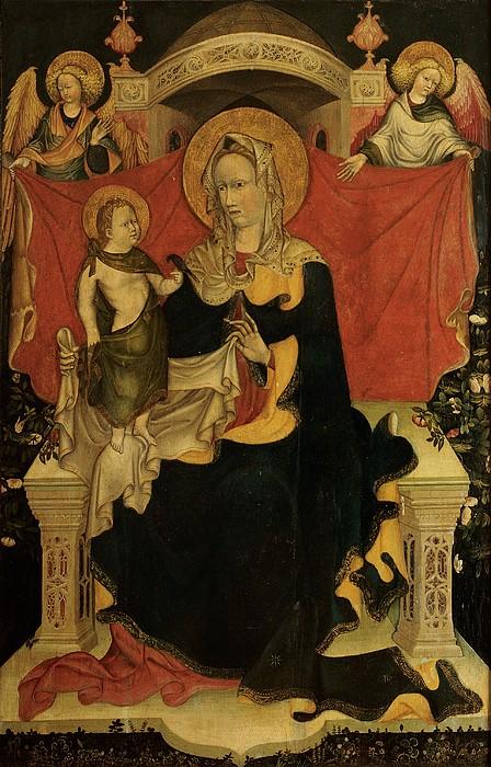 Probably Artista Veneziano, Madonna Print by Everett