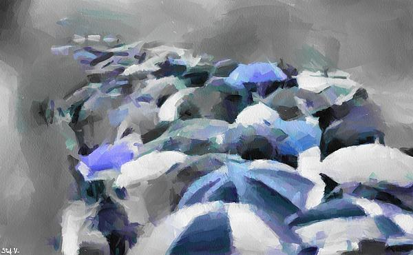 Stefania Vignotto - Procession of umbrellas