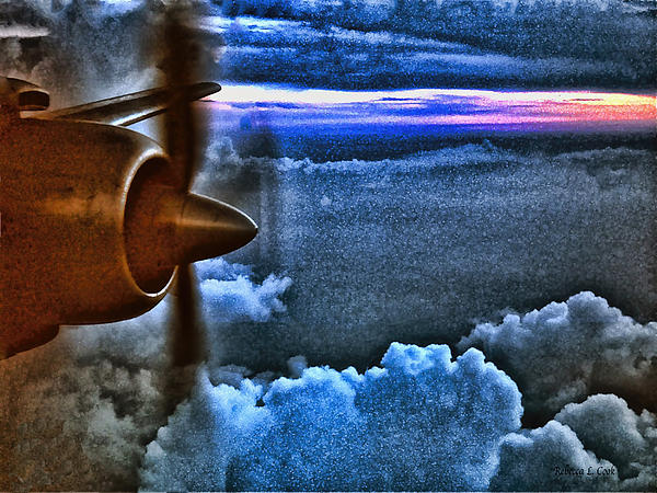 Propeller Sunrise Hdr Print by Bellesouth Studio
