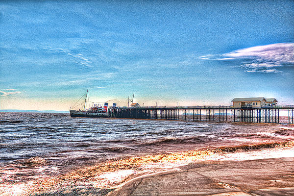 Ps Waverley At Penarth Pier 2 Print by Steve Purnell