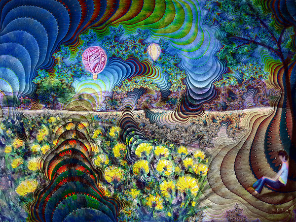 Psychedelic Landscape Print by Andrew Osta