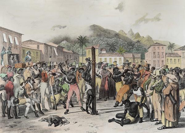 Public Punishments In The Place Ste Print by Johann Moritz Rugendas
