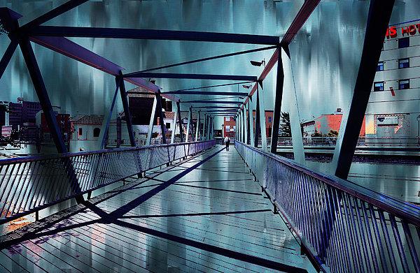 Puente De La Trinidad 1. Malaga Bridges. Spain Print by Jenny Rainbow