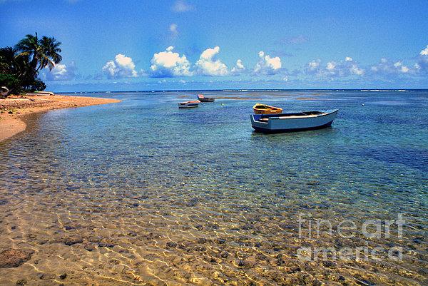 Puerto Rico Luquillo Beach Fishing Boats Print by Thomas R Fletcher