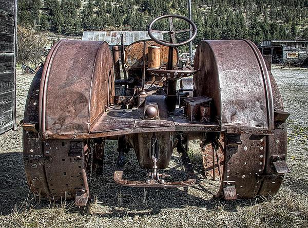 Pulling End Of Mccormick-deering Tractor Print by Daniel Hagerman