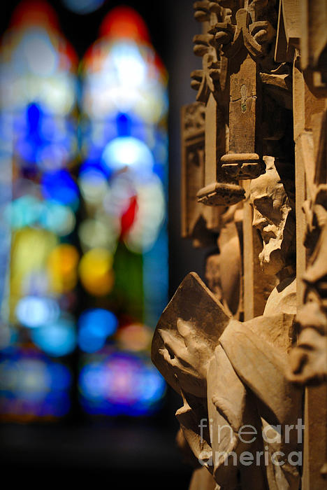 Pulpit Trinity Cathedral Pittsburgh Print by Amy Cicconi
