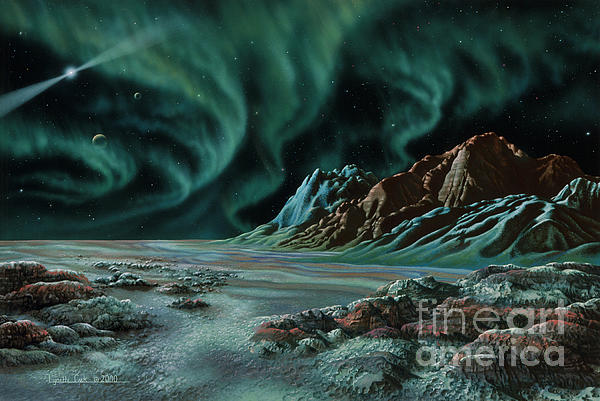 Pulsar Planets I Print by Lynette Cook
