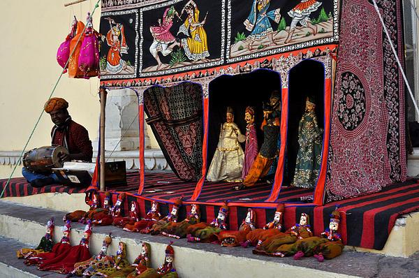 Puppet Show City Palace Jaipur India Print by Diane Lent