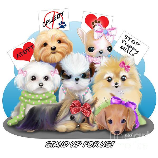 Puppies Manifesto Print by Catia Cho