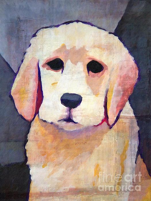Puppy Dog Print by Lutz Baar