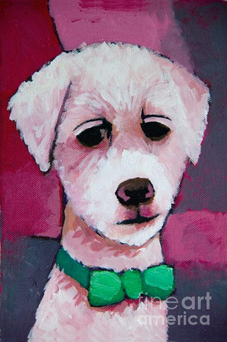 Puppy Print by Lutz Baar