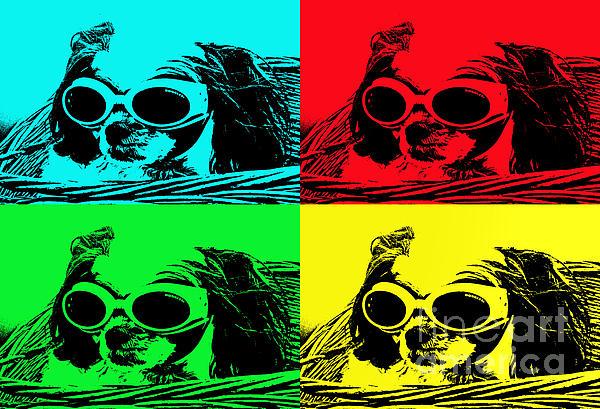 Puppy Mania Pop Art Print by Ella Kaye Dickey