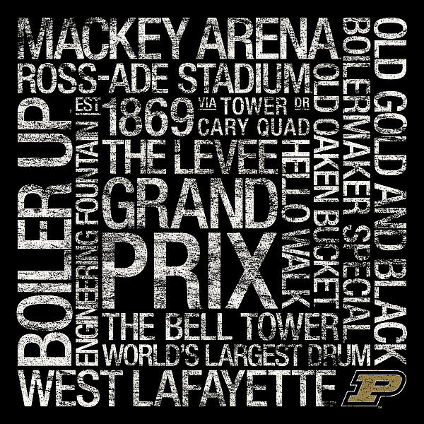 Purdue College Colors Subway Art Print by Replay Photos