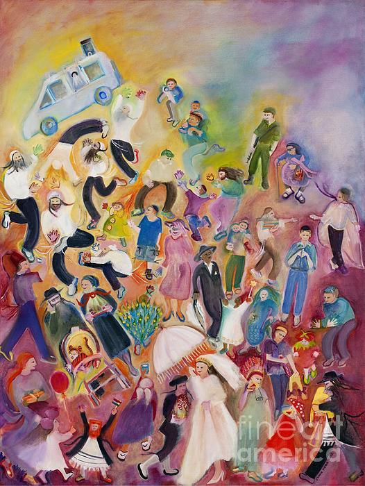 Purim Print by Chana Helen Rosenberg
