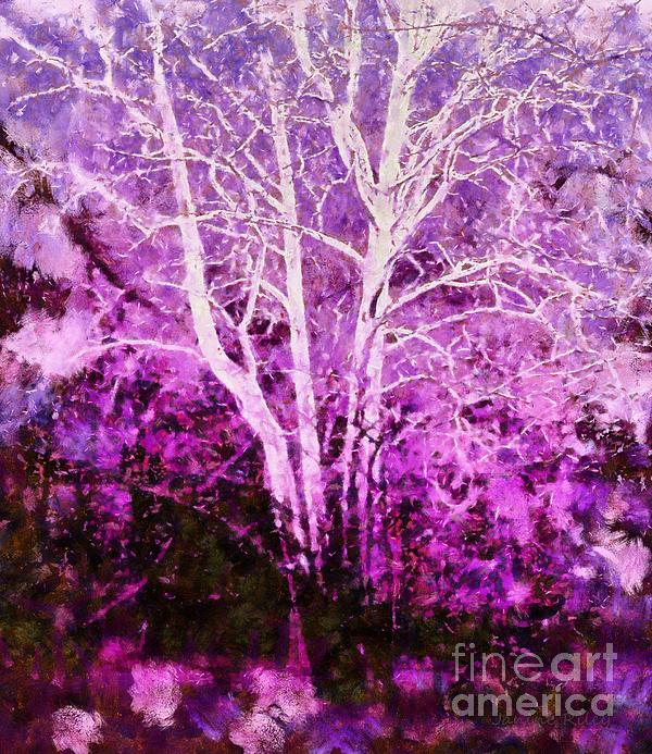 Purple Forest Fantasy Print by Janine Riley